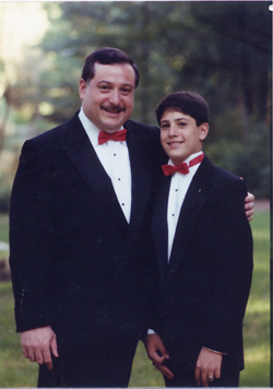 Avram and Jonathan at Jonathan's Bar Mitzvah -- September, 1989.