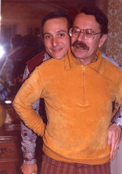 Avram and his father, George, in California, 1979.