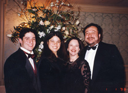 Family attends a wedding on New Year's Day 1998.
