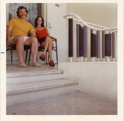 Avram and Rhoda on the porch of their room at the Sheraton Puerto