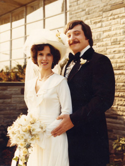 Avram and Rhoda at their wedding December 15, 1974.