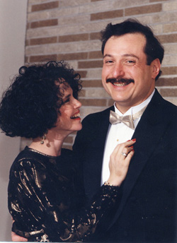 Avram and Rhoda at Arielle's Bat Mitzvah, November 10, 1990.